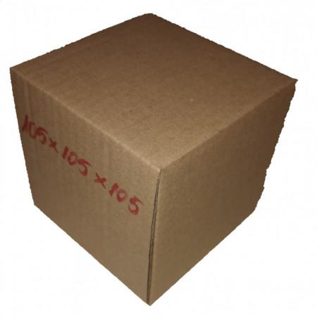 100 buc Cutie carton NATUR 105 x 105 x 105 mm - set 100 buc