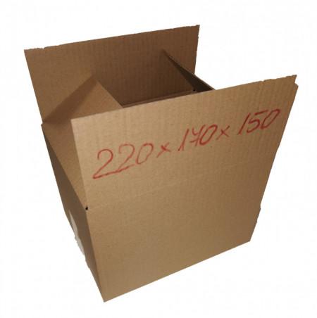 50 buc Cutie carton NATUR 220 x 175 x 155 mm - set 50 buc