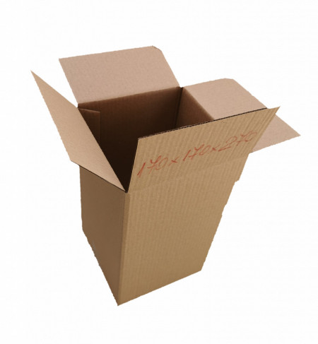 50 buc Cutie carton NATUR 170 x 170 x 270 mm - set 50 buc