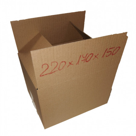 Cutie carton NATUR 220 x 170 x 150 mm - set 25 buc