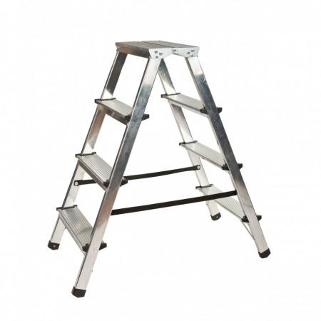 Scara aluminiu dubla 2×4 trepte