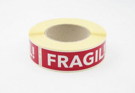 """Rola cu eticheta """"FRAGIL"""" 125x40 mm, autoadezive, 500 buc"""