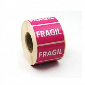 """1000 buc Rola cu eticheta """"FRAGIL"""" 60x40 mm, autoadezive, 1000 buc"""