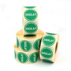 """1000 buc Rola cu eticheta """"SIGILAT"""" diametru 40 mm, autoadezive, 1000 buc"""