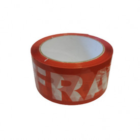 Banda adeziva FRAGILE MARE - 50 mm x 66 m - 36 buc