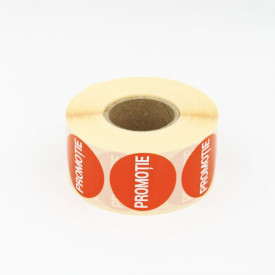 """1000 buc Rola cu eticheta """"PROMOTIE"""" diametru 40 mm, autoadezive, 1000 buc"""