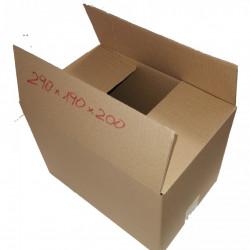 100 buc Cutie carton NATUR 290 x 190 x 200 mm - set 100 buc