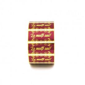 "500 buc Rola cu eticheta ""La multi ani"" 55mm x 25mm, autoadezive, 500buc"