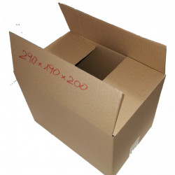 Cutie carton NATUR 290 x 190 x 200 mm - set 200 buc