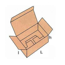 200 buc Cutie carton NATUR 105 x 105 x 105 mm - set 200 buc
