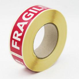 """500 buc Rola cu eticheta """"FRAGIL"""" 125x40 mm, autoadezive, 500 buc"""