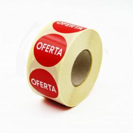 """1000 buc Rola cu eticheta """"OFERTA"""" diametru 40 mm, autoadezive, 1000 buc"""