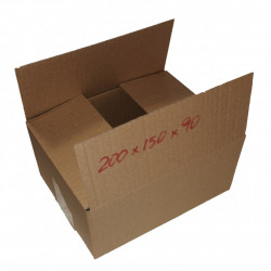 25 buc Cutie carton NATUR 200 x 150 x 90 mm - set 25 buc