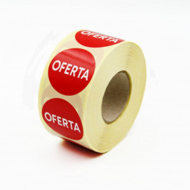 """Rola cu eticheta """"OFERTA"""" diametru 40 mm, autoadezive, 1000 buc"""