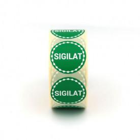 """Rola cu eticheta """"SIGILAT"""" diametru 40 mm, autoadezive, 1000 buc"""