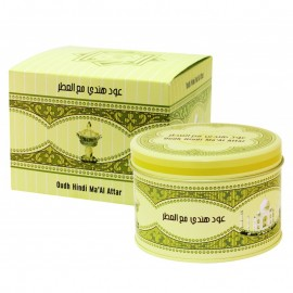 Poze Al Haramain Oudh Hindi Ma'al Attar 50g - Carbuni aromati