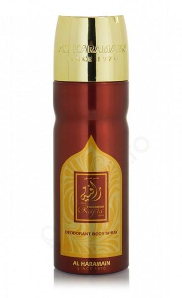 Deo Al Haramain Rafia Gold 200ml - Deodorant Spray