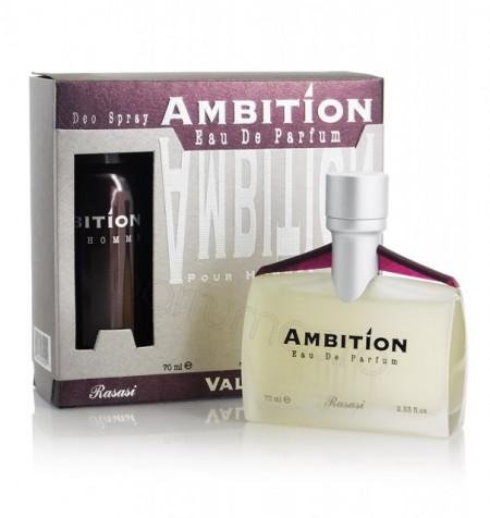 Rasasi Ambition Pour Homme 70ml + Deo 150ml - Apa de parfum
