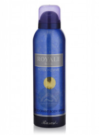 Deo Rasasi Royale Blue pour Homme 200ml - Deodorant Spray