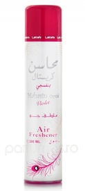 Air Freshener Lattafa Mahasin Crystal Violet 300ml - Spray de camera
