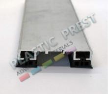 Profil presor din aluminiu (include cheder si garnituri EPDM) (pret pe BUCATA)