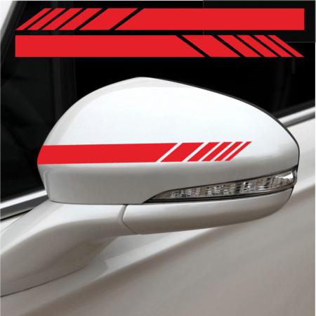 Set stikere auto pentru oglinzi 2