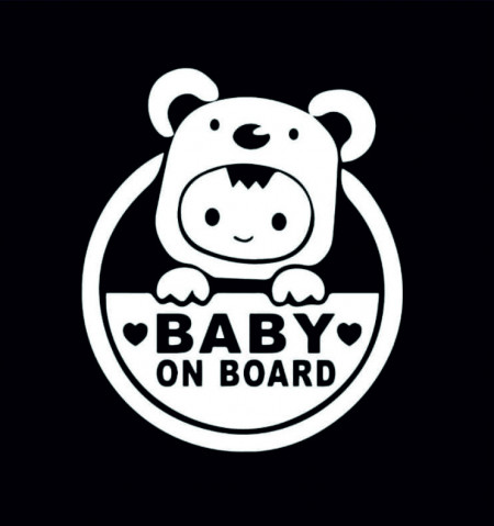 Sticker Abtibild autocolant BABY ON BOARD
