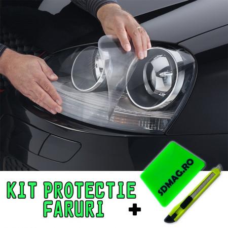 Kit protectie transparent autoadeziv pentru faruri