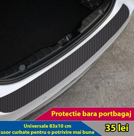 Protectie autocolanta carbon pentru portbagaj (83 x 10 cm) curbata