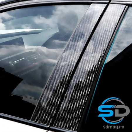 SET COLANT CARBON 5D PENTRU STALPII DE LA USA DREAPTA/STANGA 2 buc 50x30 CM