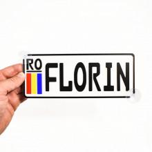 Placa Auto Personalizata cu Numele tau 20x8cm