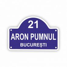 Placa Stradala personalizata 20x13.5 cm atipica cu Nr, Strada, Localitate