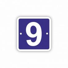 Placa Stradala personalizata 11x11 cm, 1 cifra, Nr de Casa