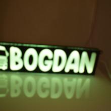 Placa camion luminoasa personalizata cu nume, mesaj, logo + controler lumini