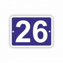 Placa Stradala personalizata 11x15 cm, 2 cifre, Nr de Casa