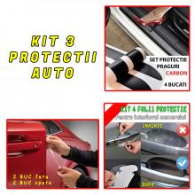 Set complet protectii auto pentru 4 Usi - 4 Interiore manere - 4 Praguri
