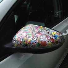Autocolant Sticker Bomb pentru oglinzile masini 2 buc de 20x40cm