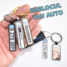 Personalizare Breloc Auto Fata+Spate