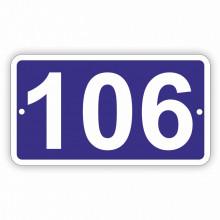 Placa Stradala personalizata 11x20 cm, 3 cifre, Nr de Casa