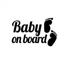 Stiker Abtibild autocolant *BABY ON BOARD*