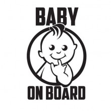 Stiker Abtibild autocolant *BABY ON BOARD* 2