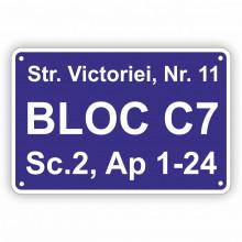 Placa Stradala personalizata 39x26 cm Scari de Bloc