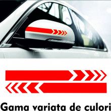 Set stikere auto pentru oglinzi