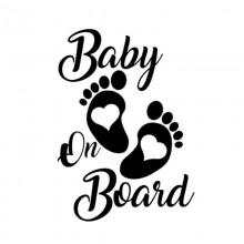 Stiker Abtibild autocolant *BABY ON BOARD* 3