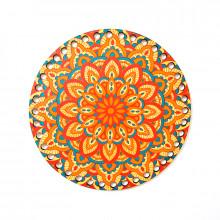 Baza crosetat de lemn, pictura A04, Multicolor