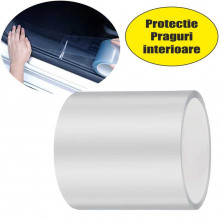 Folie protectie nano transparenta 10cm x 5m pentru praguri, portbagaj, partea de jos a usilor etci