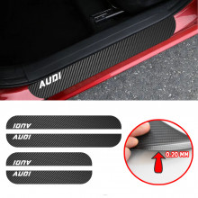Set Protectii Colant Carbon Praguri Auto Personalizate 2 buc 58x6,7 cm + 2 buc 38x6,7 cm