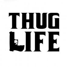 Stiker Abtibild autocolant *THUG LIFE*