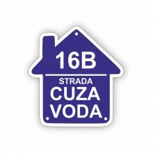 Placa Stradala personalizata 18x19 cm cu Strada si Nr