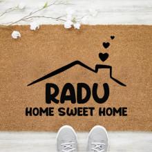 Pres intrare personalizat 40x60 cm cu Home Sweet Home